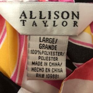 Allison Taylor Tops - Allison Taylor size large blouse, multicolor